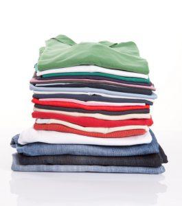 freshly washed folded clothes